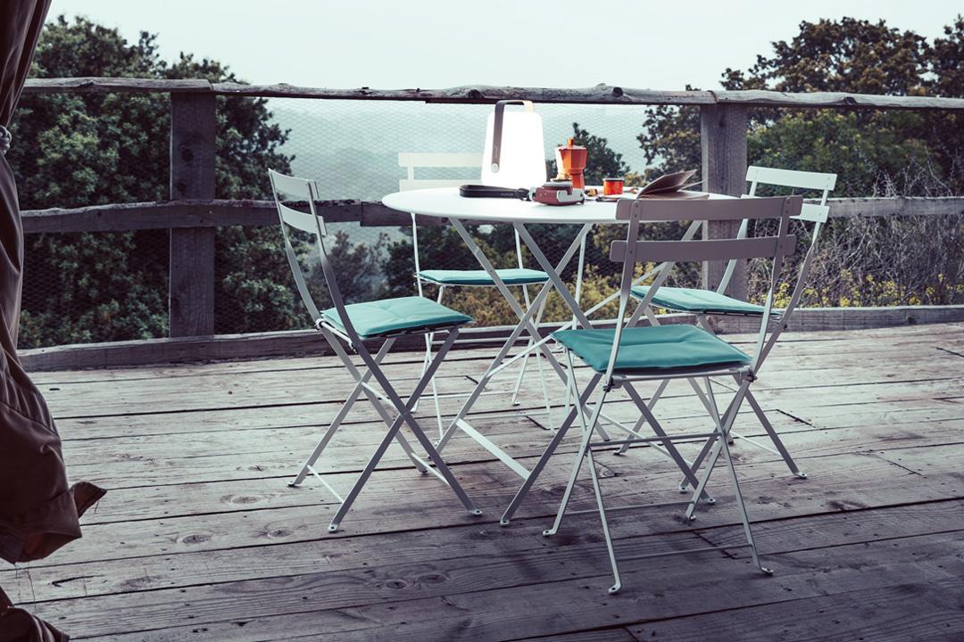 bistro, mobilier bistro, table et chaise pliantes, mobilier fermob