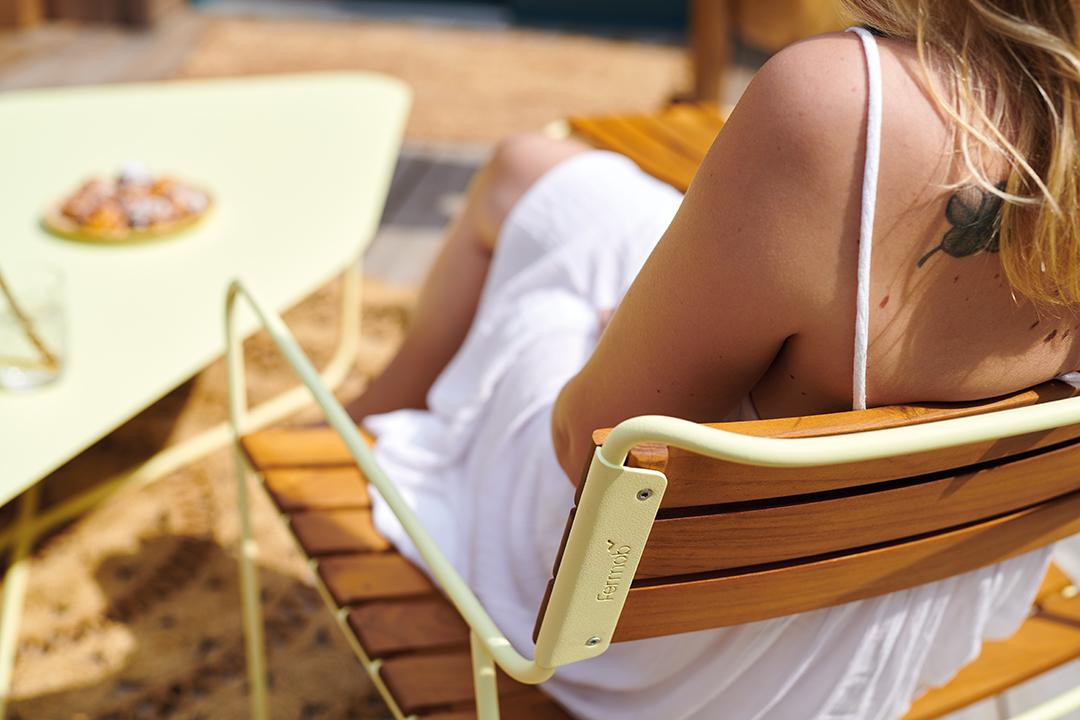 fauteuil de jardin, fauteuil métal, fauteuil teck, fauteuil outdoor, fauteuil exterieur, mobilier