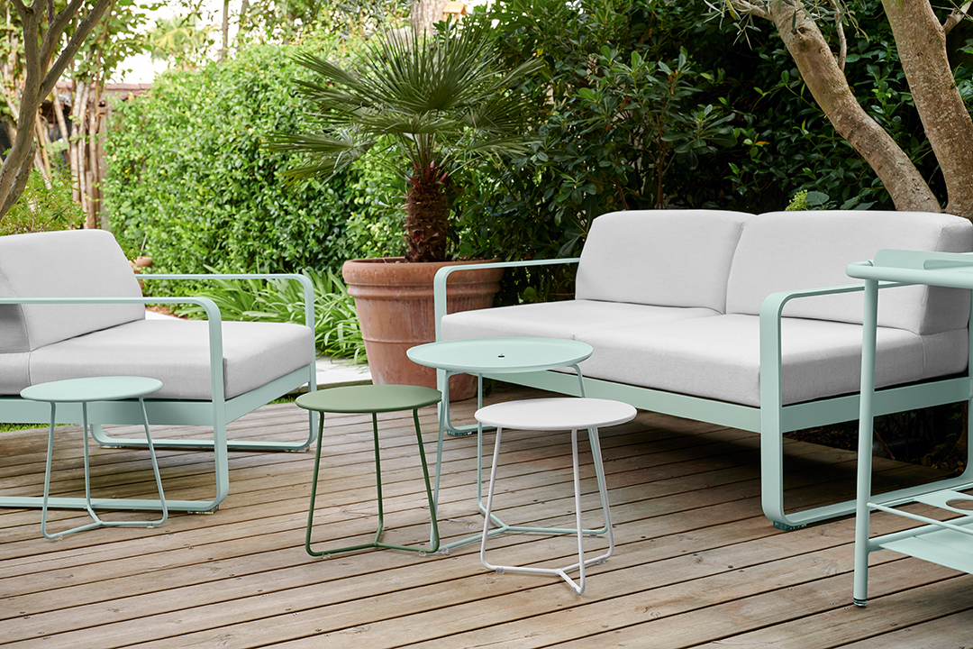 lounge, salon de jardin, metal, mobilier d exterieur, table basse, canapé,  fauteuil, table d appoint, table basse, design, outdoor
