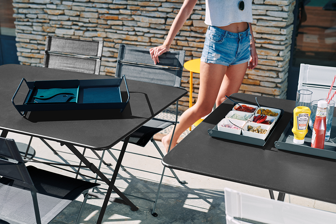 table metal, table pliante, chaise de jardin, mobilier de jardin