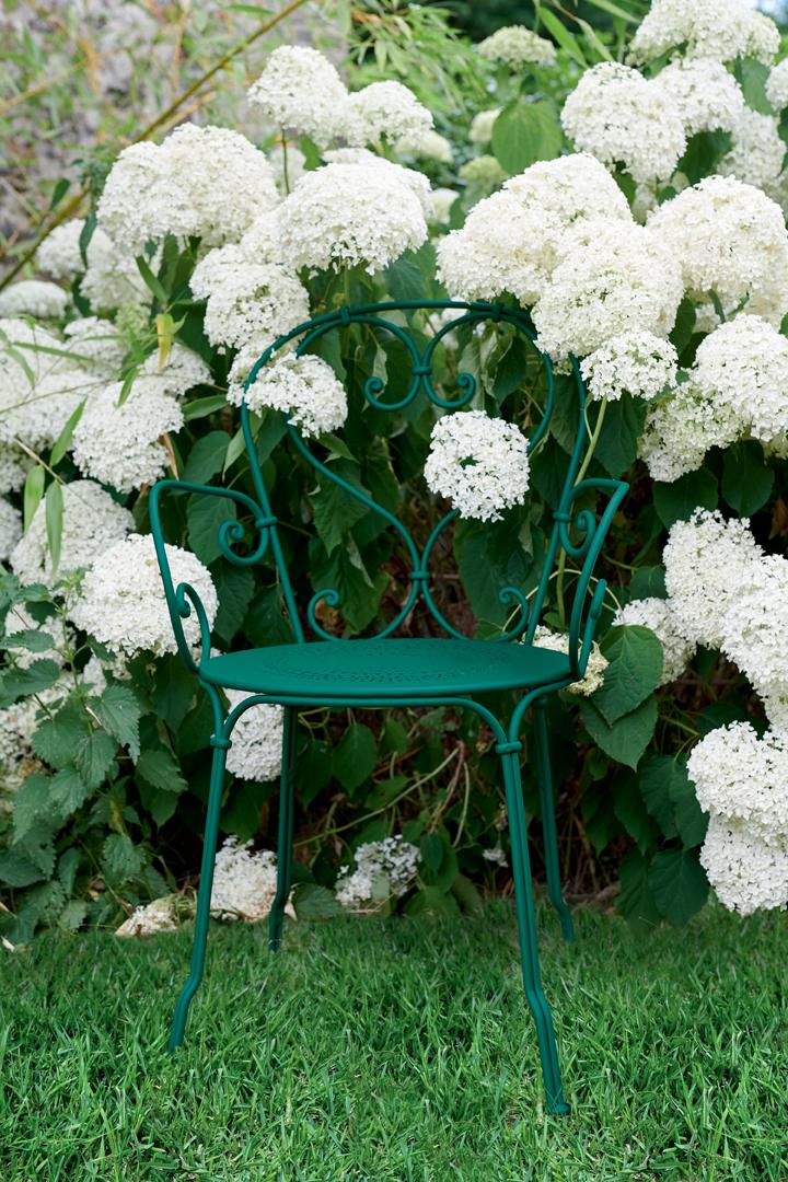 chaise metal, chaise de jardin, chaise a volutes