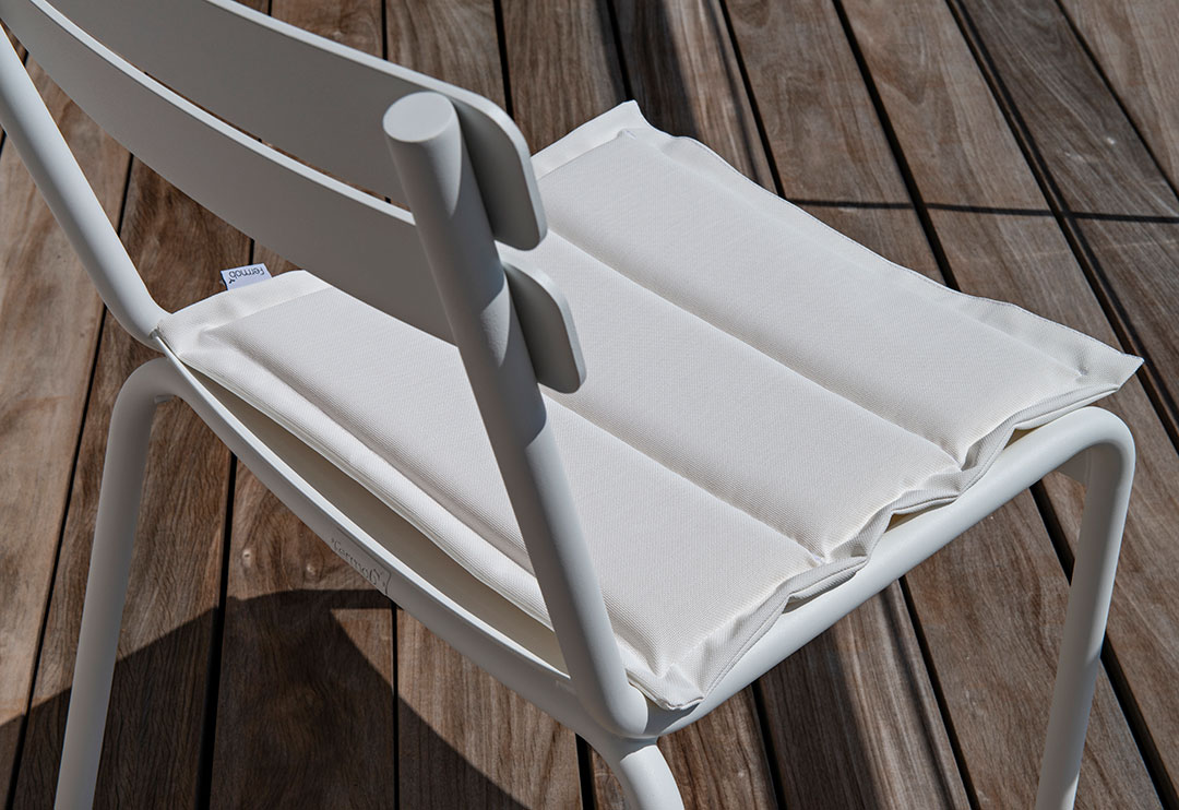 galette de chaise, galette chaise de jardin, galette fermob, cushion chair