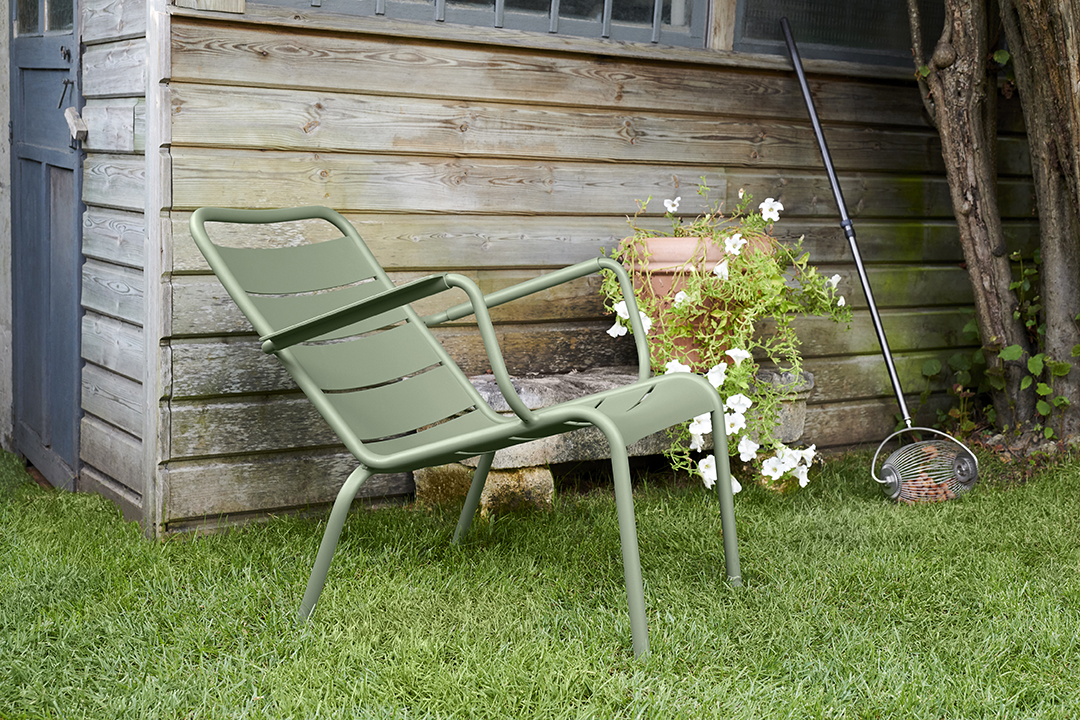 fauteuil metal, fauteuil bas, salon de jardin, mobilier terrasse, mobilier de jardin