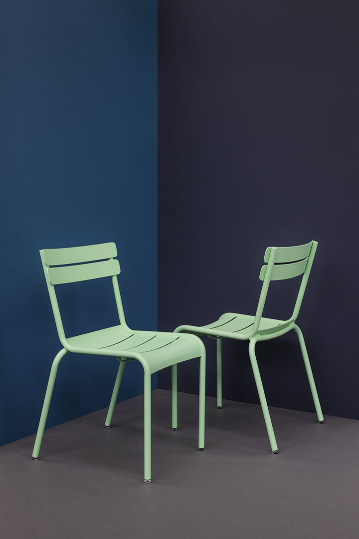 Chaise métal, chaise metal Luxembourg, chaise design, chaise d'exterieur, mobilier de jardin, chaise Luxembourg Fermob