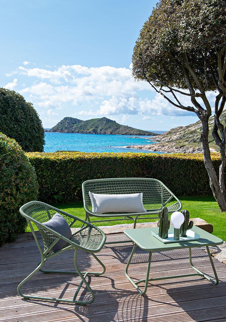 salon de jardin, fauteuil de jardin, table basse metal, outdoor furniture, outdoor armchair