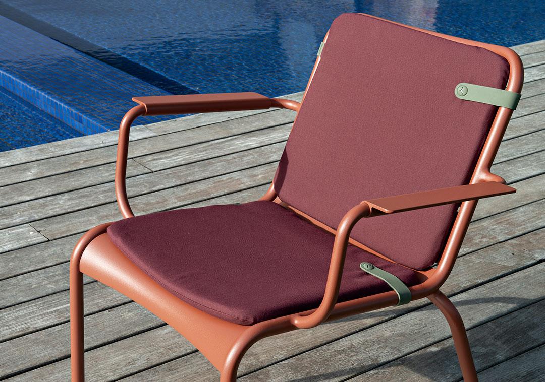 galette de fauteuil, coussin fauteuil, galette fermob, coussin fauteuil luxembourg, armchair cushion