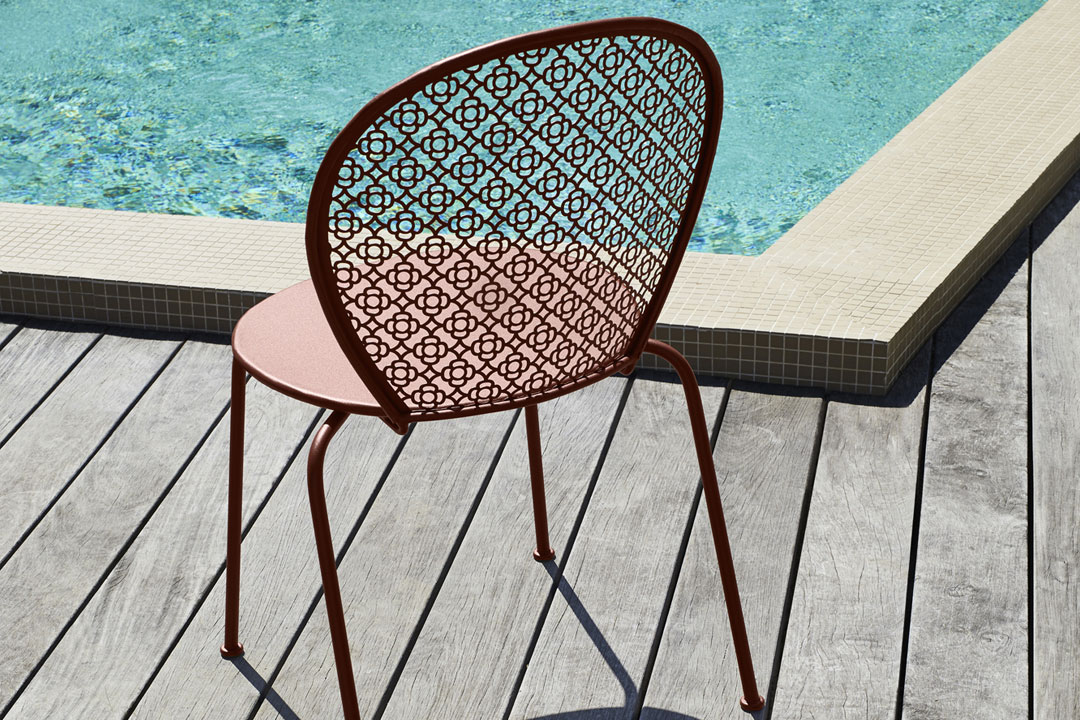 chaise metal, chaise design, chaise terrasse