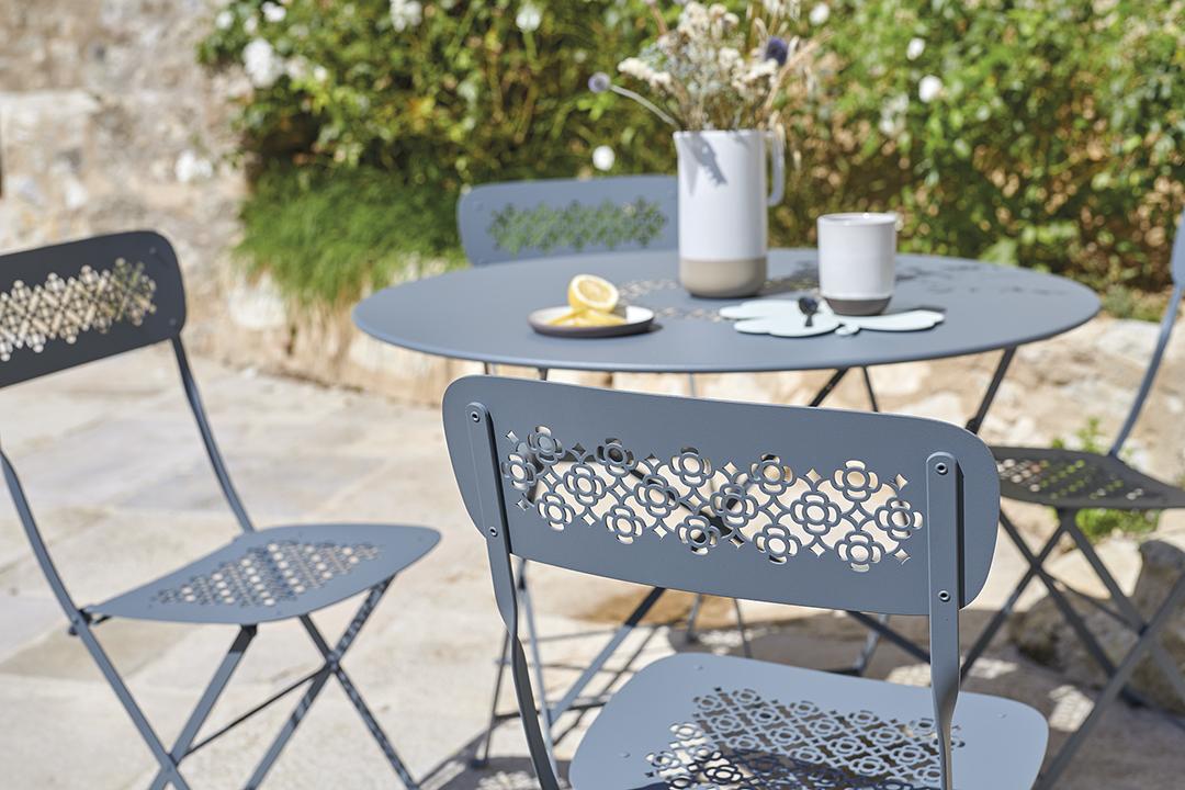 mobilier de jardin fermob, chaise de jardin pliante, chaise terrasse, chaise metal pliante, mobilier fermob, metal chair, folding chair, outdoor chair