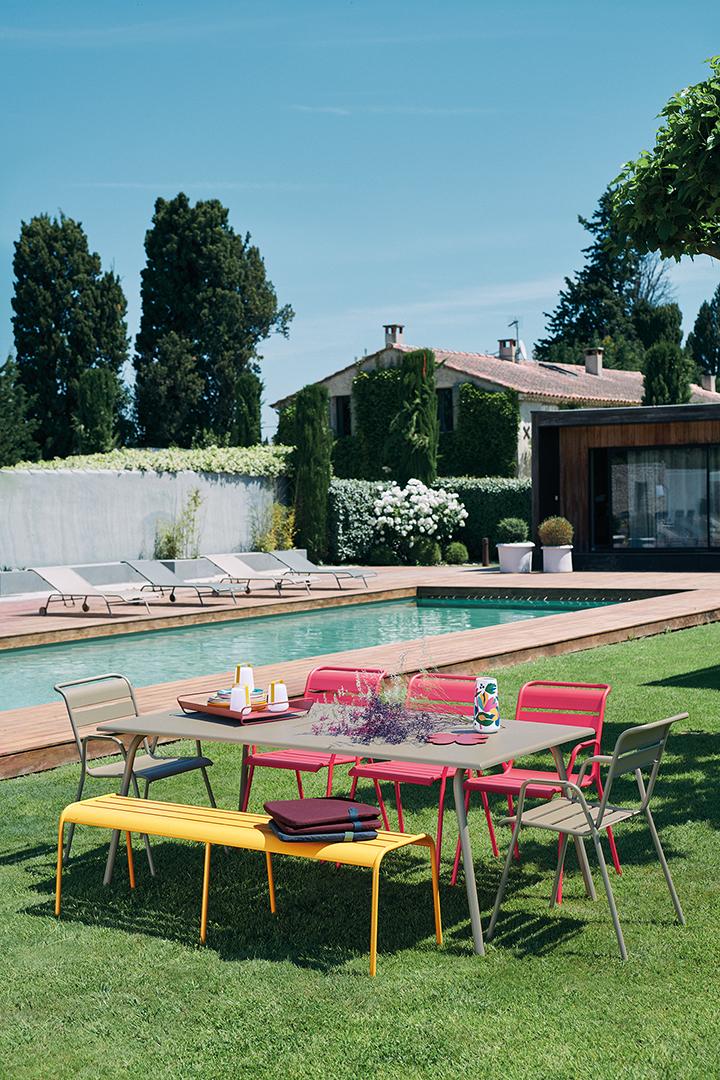 chaise metal, table de jardin, mobilier terrasse, table metal, chaise de jardin