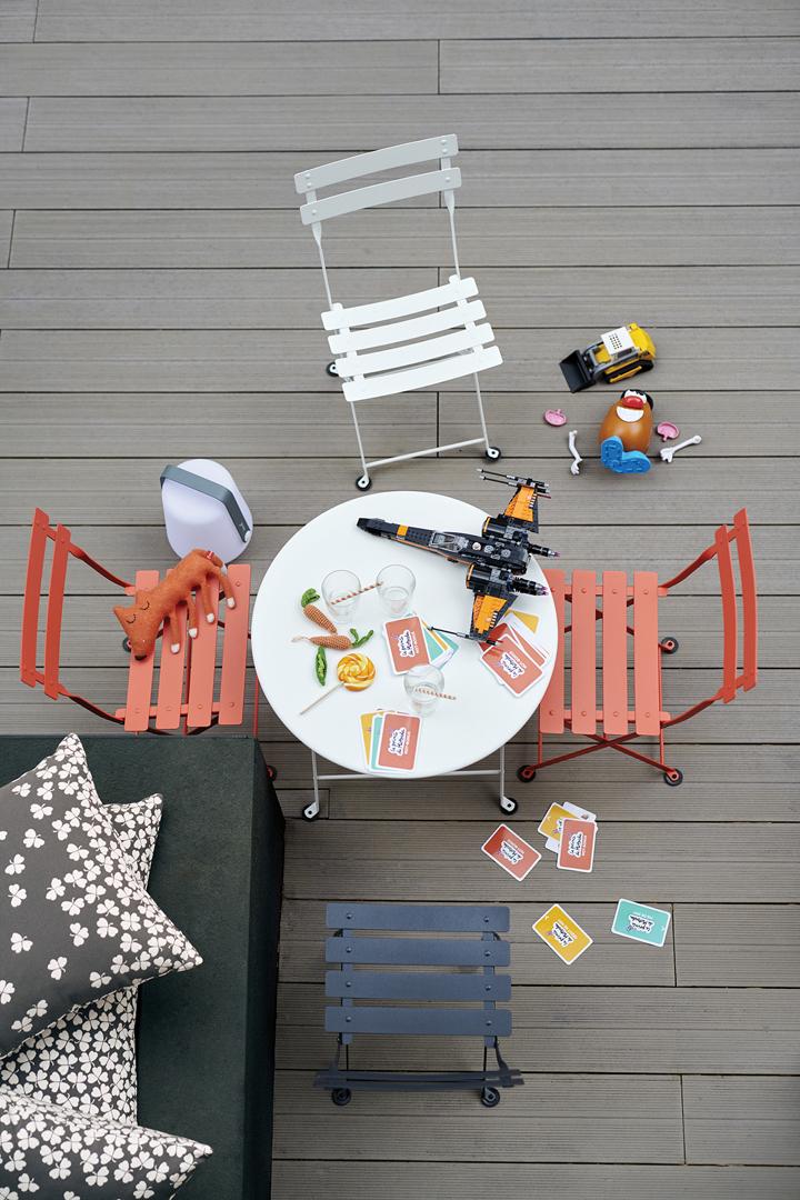 chaise metal pour enfant, chaise jardin enfant, table de jardin pour enfant