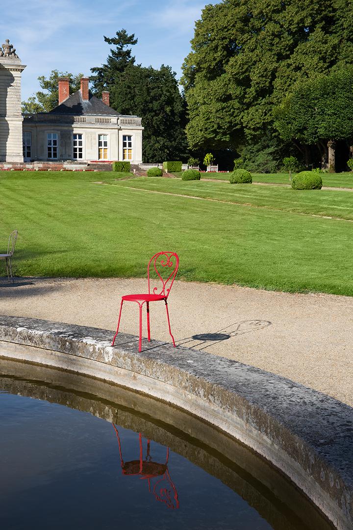 chaise métal, style romantique, chaise de jardin