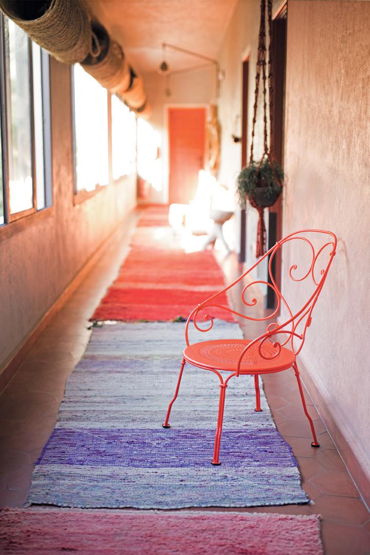 fauteuil de jardin, fauteuil metal, mobilier style romantique