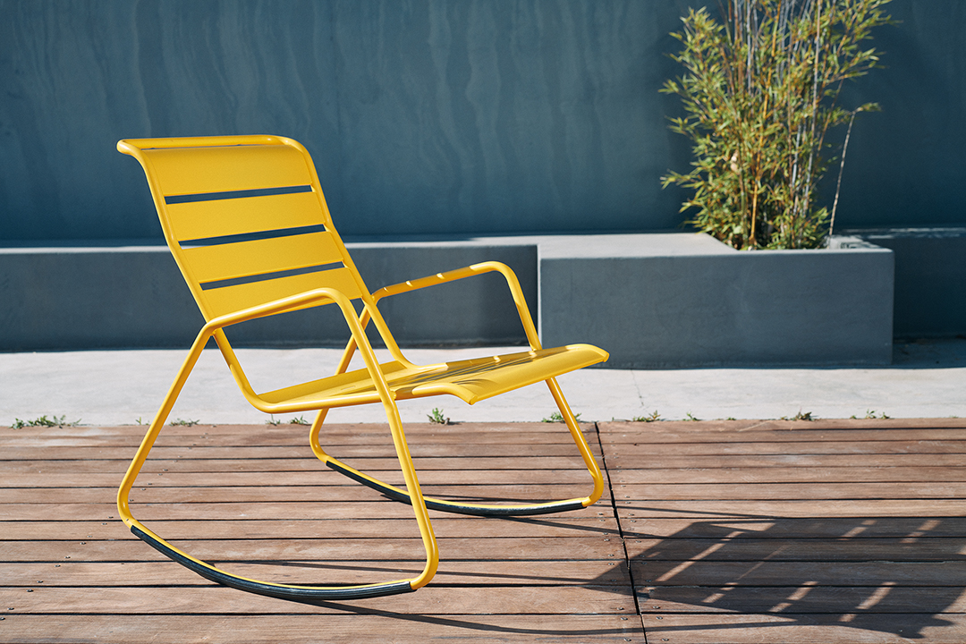 rocking chair metal, rocking chair de jardin, rocking chair terrasse