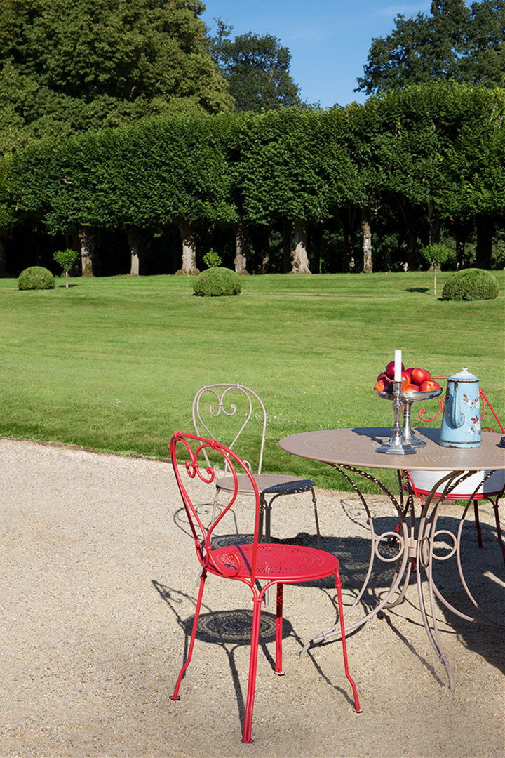 Chaise metal, chaise romantique, chaise exterieur, table exterieur, table metal, mobilier de jardin