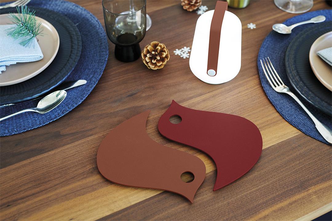 dessous de plat metal, dessous de plat original, dessous de plat coloré, mini balad, lampe de table, lampe Fermob