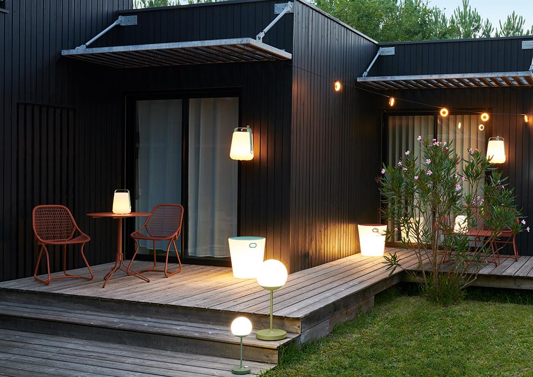 lampe balad, lampe baladeuse, lampe fermob, mobilier de jardin fermob, terrasse fermob