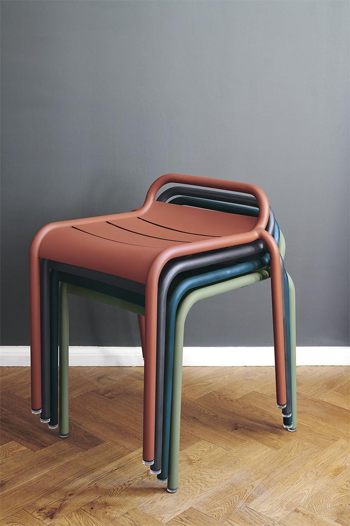 tabouret metal, tabouret de jardin, tabouret empilable, tabouret design, stool, hocker