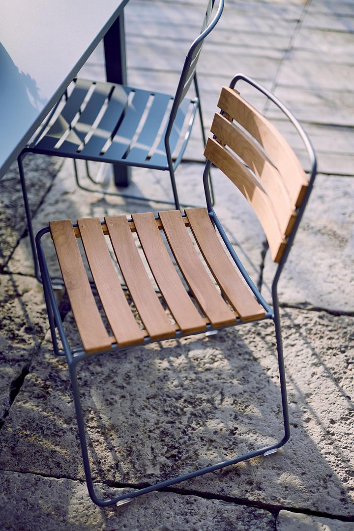 chaise metal, chaise bois et metal, chaise de jardin, chaise design