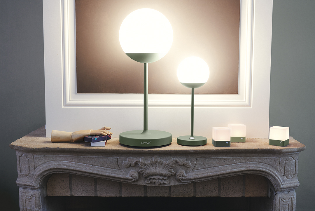 lampe sans fil, lampe a poser, lampe design, lampe moon, fermob lamp, wireless lamp