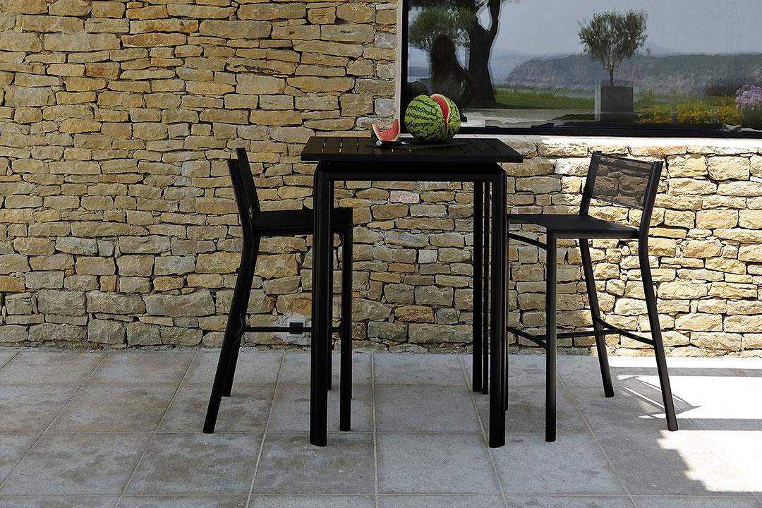 table haute, mange debout, tabouret de bar, tabouret haut, mobilier terrasse