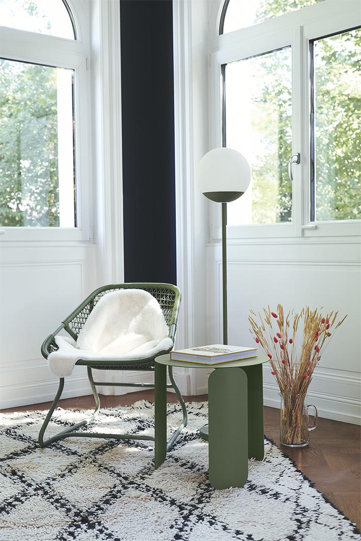 salon Fermob, fauteuil de jardin, table basse metal, fauteuil design, table basse design, lampe fermob, lampe sans fil, lampe moon