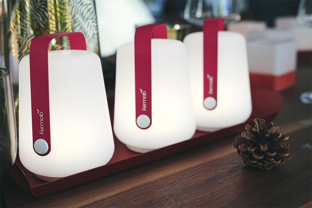 mini balad, mini lampe Fermob, petite lampe balad, lampe sans fil, veilleuse, lampe de table
