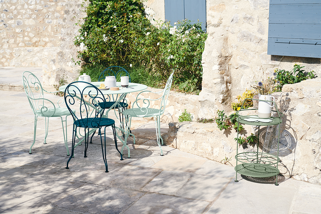 chaise metal, table de jardin, table metal, chaise de jardin, mobilier exterieur