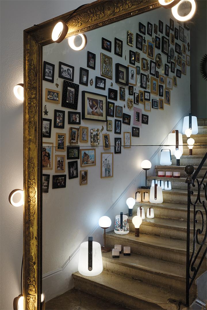 guirlande design, guirlande exterieur, lampe fermob, balad, lampe baladeuse, lampe sans fil, lampe d exterieur