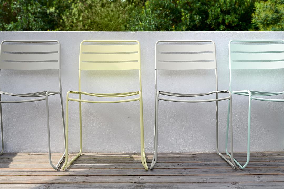 chaise metal, chaise de jardin, chaise design, mobilier exterieur