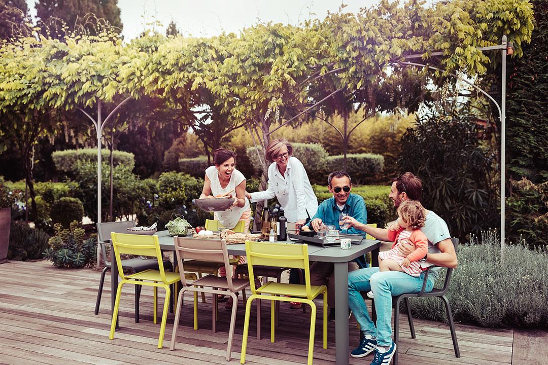 table de jardin, chaise de jardin, table metal, table 8 personnes, chaise terrasse