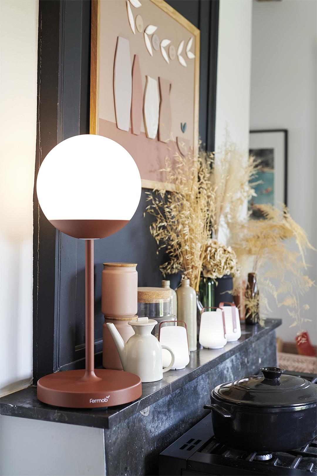 lampe à poser, lampe sans fil, luminaire exterieur, lampe de jardin, lampe bluetooth, wireless lamp