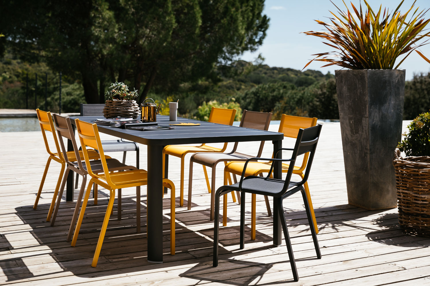 table de jardin, chaise de jardin, table metal, table de jardin 8 personnes, chaise terrasse