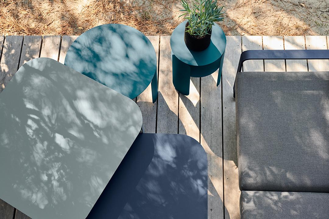 lounge, salon de jardin, metal, exterieur, table basse, canapé, fauteuil