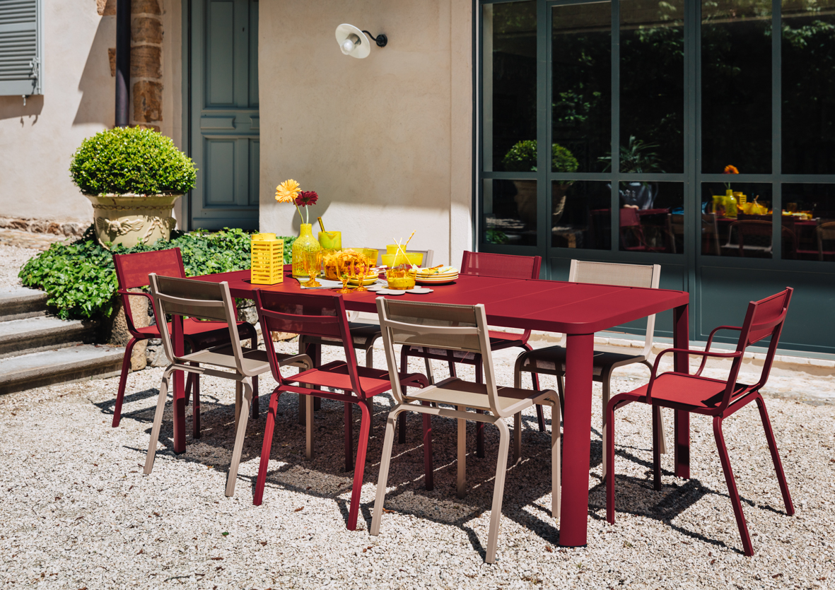 table de jardin, chaise de jardin, table metal, table 8 personnes, chaise terrasse