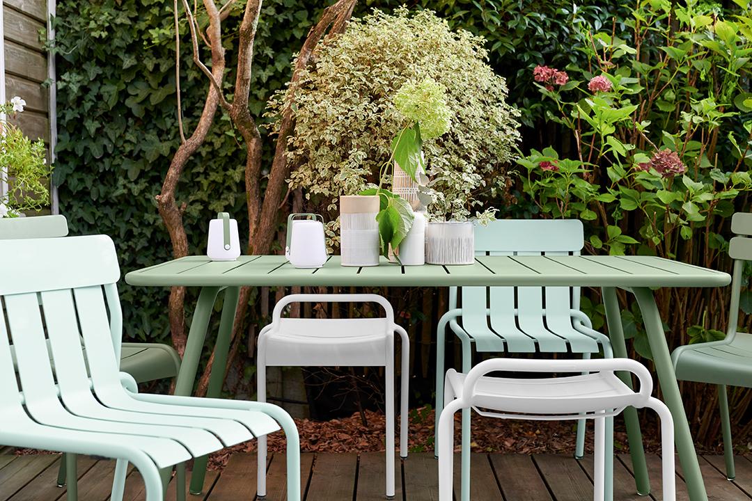 tabouret metal, table de jardin, table metal, chaise de jardin, mobilier terrasse, chaise design