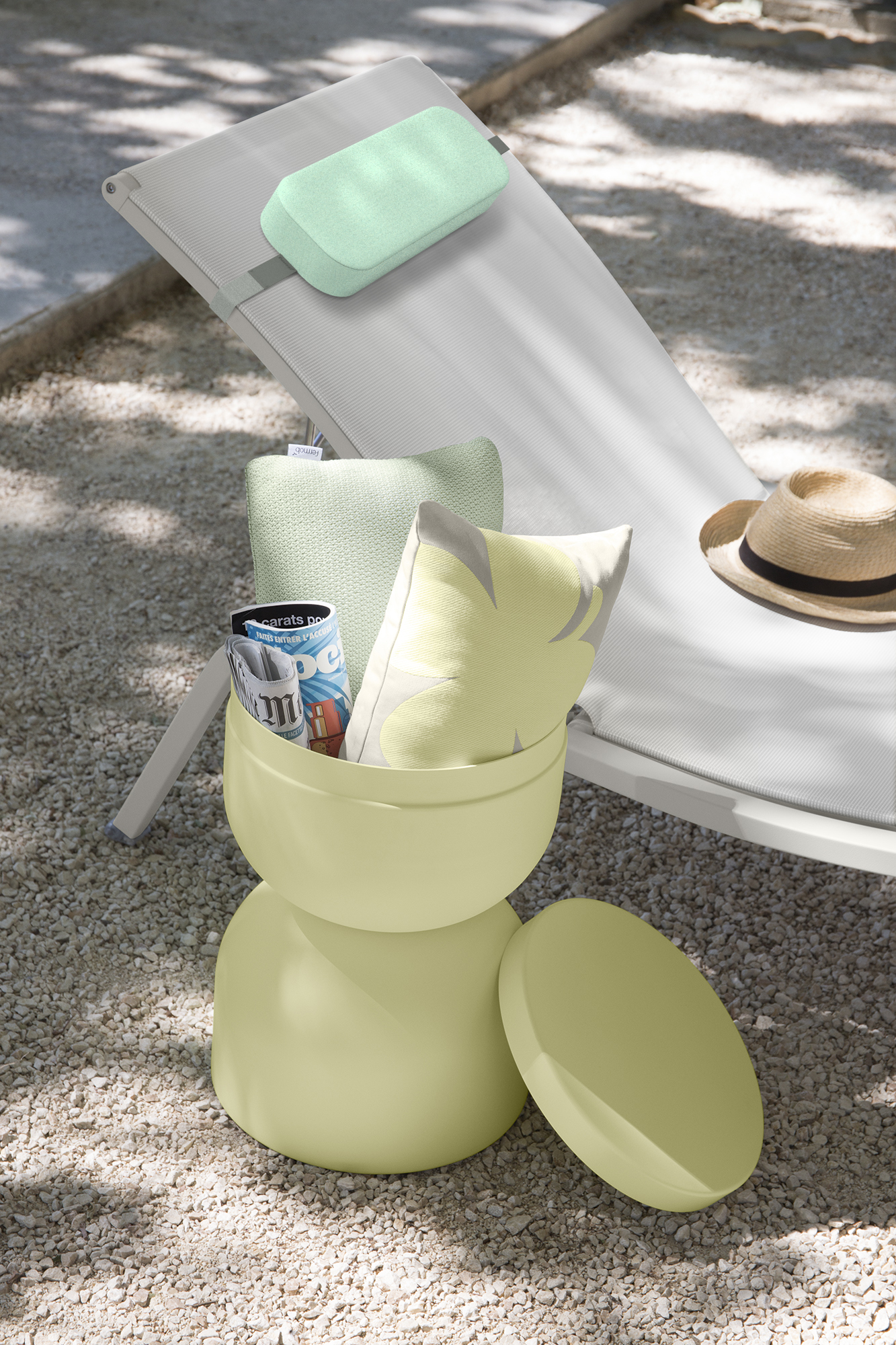 appui-tête,  appui tete, appui-tête Fermob, appui-tête Color Mix, appui-tête bain de soleil