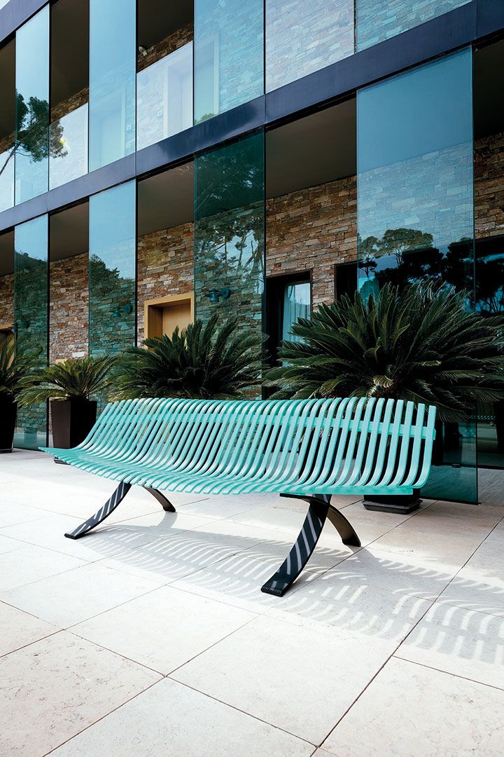 banc metal, banc design, banc orginial, banc terrasse