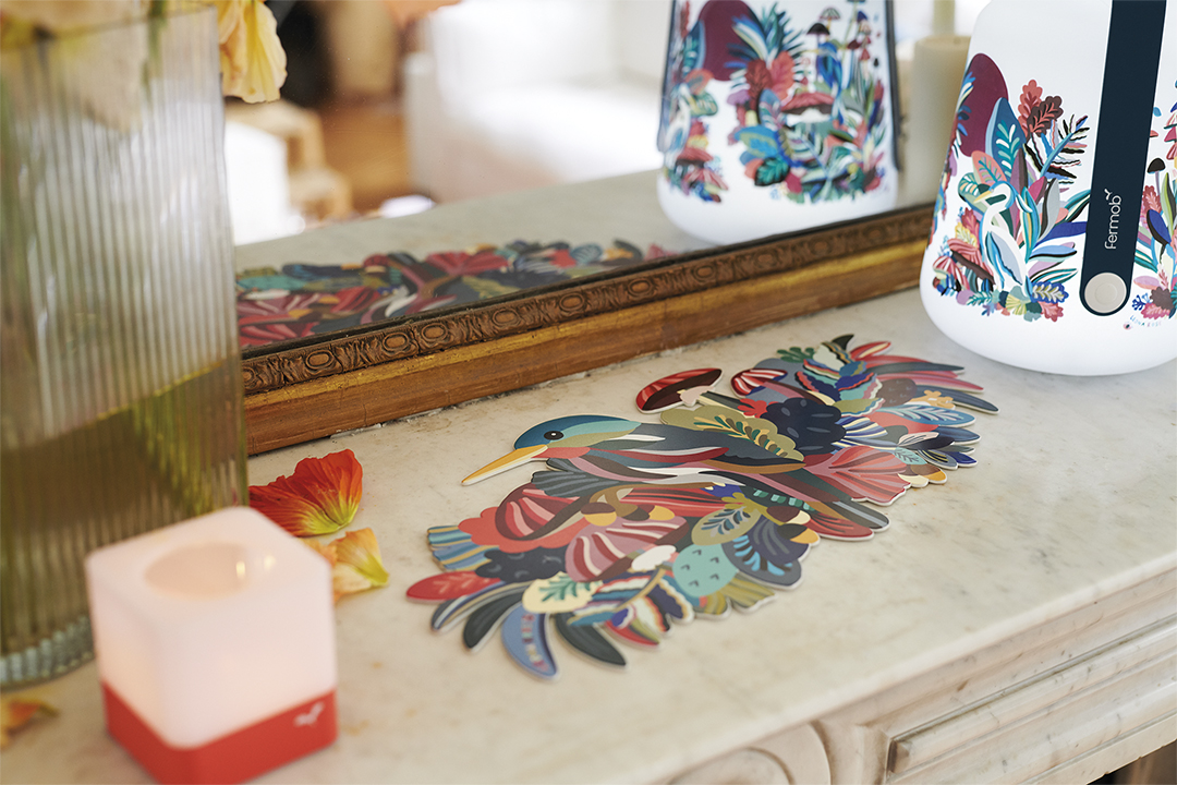 centre de table, dessous de plat, objet déco, art de la table, deco fermob, leona rose