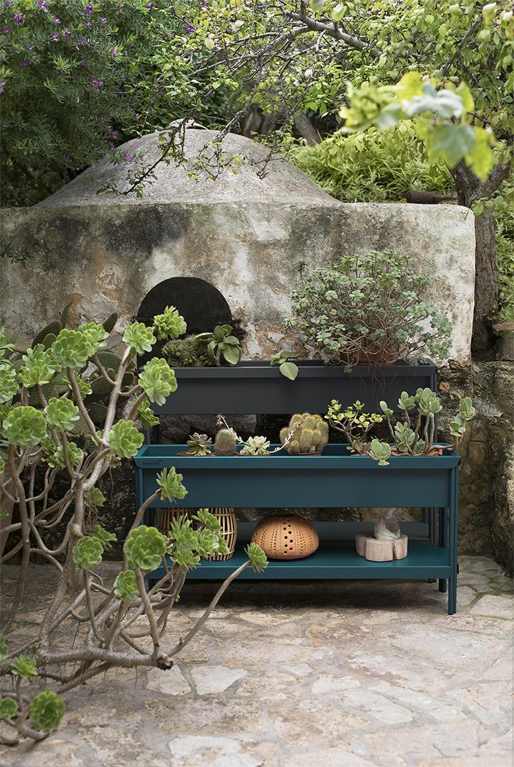 jardiniere metal, jardiniere rectangulaire, jardiniere design, metal planter, jardiniere sur pied
