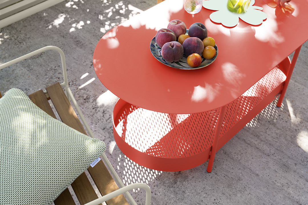 table basse outdoor, salon de jardin, salon de jardin metal, mobilier d'exterieur,  coussin exterieu