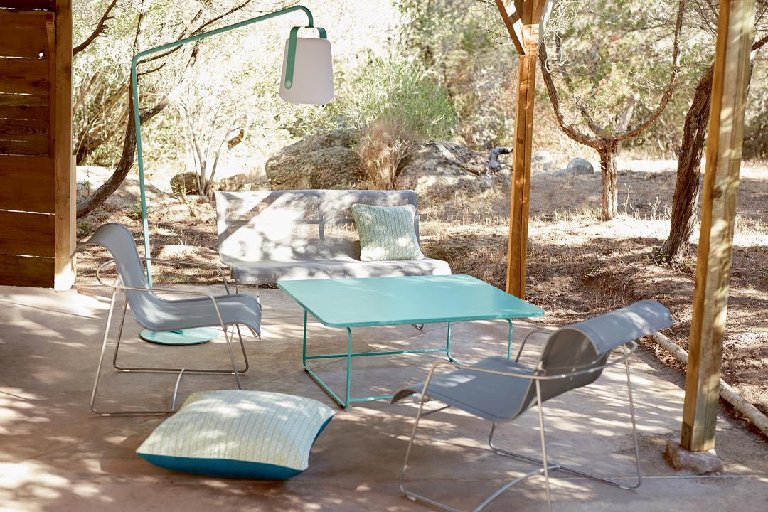 salon de jardin, fauteuil de jardin, table basse metal, salon de jardin design