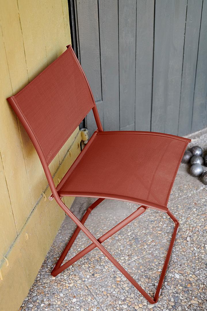 chaise de jardin, chaise pliante, chaise en toile