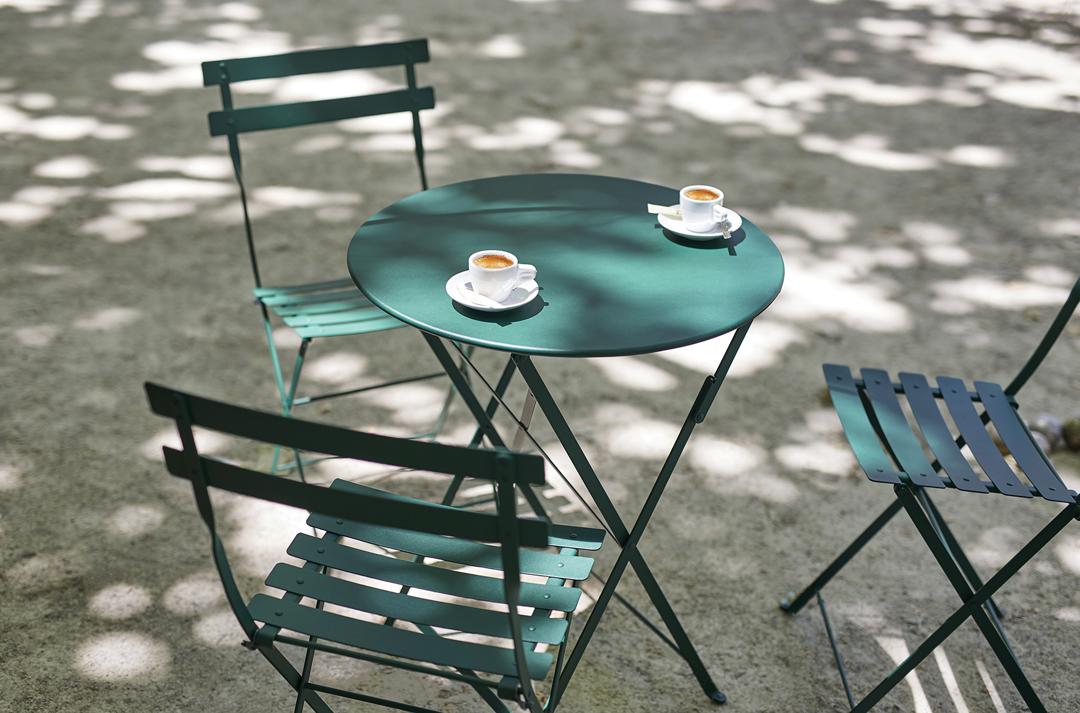 chaise metal, table de jardin, chaise pliante, table metal