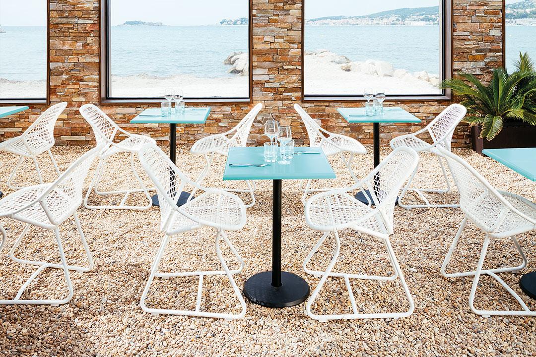 terrasse restaurant, mobilier restaurant, chaise restaurant, table terrasse restaurant