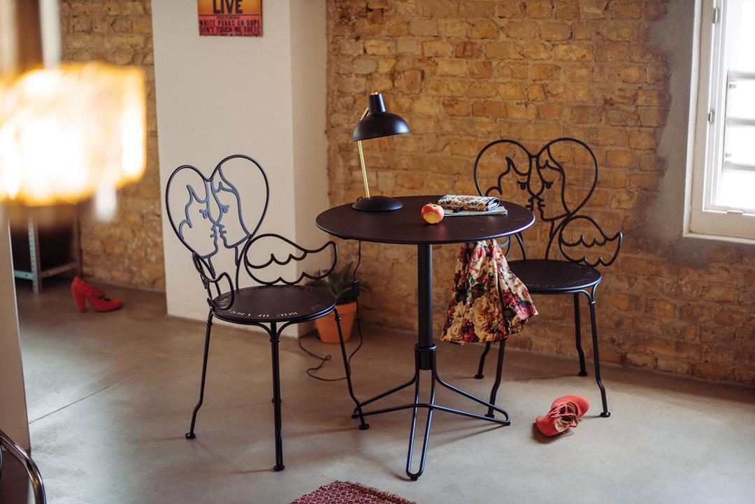 chaise design, castelbajac, chaise deco, chaise metal, chaise castelbajac