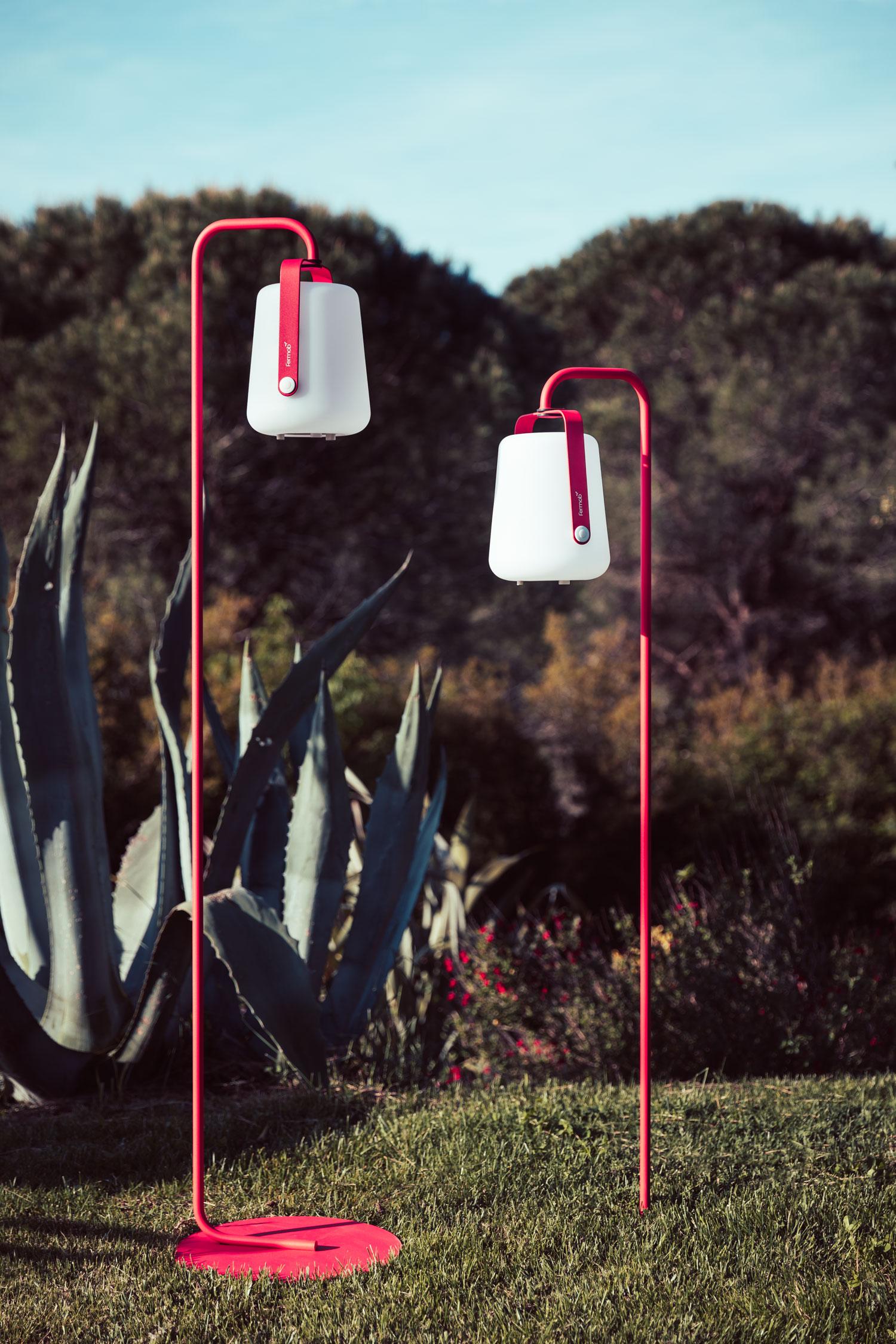 lampe nomade, pied lampe balad, lampe sans fil, lampe de jardin, fermob