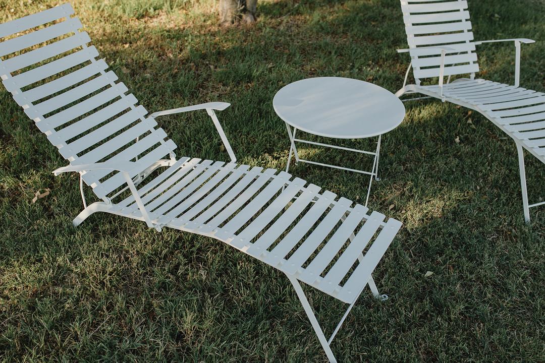 chaise longue metal, transat metal, chaise longue pliante