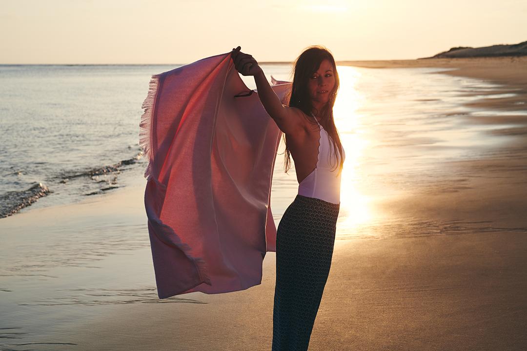 fouta, serviette de plage, serviette fermob
