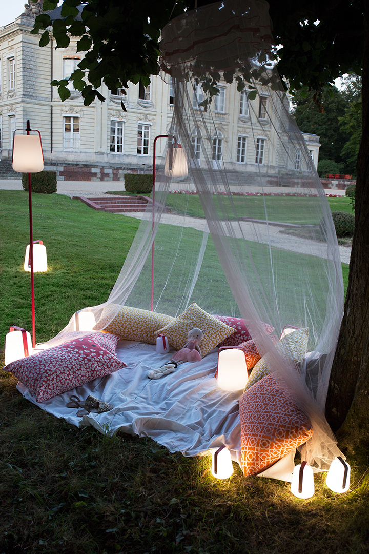 lampe nomade, lampe sans fil, lampe de jardin, fermob