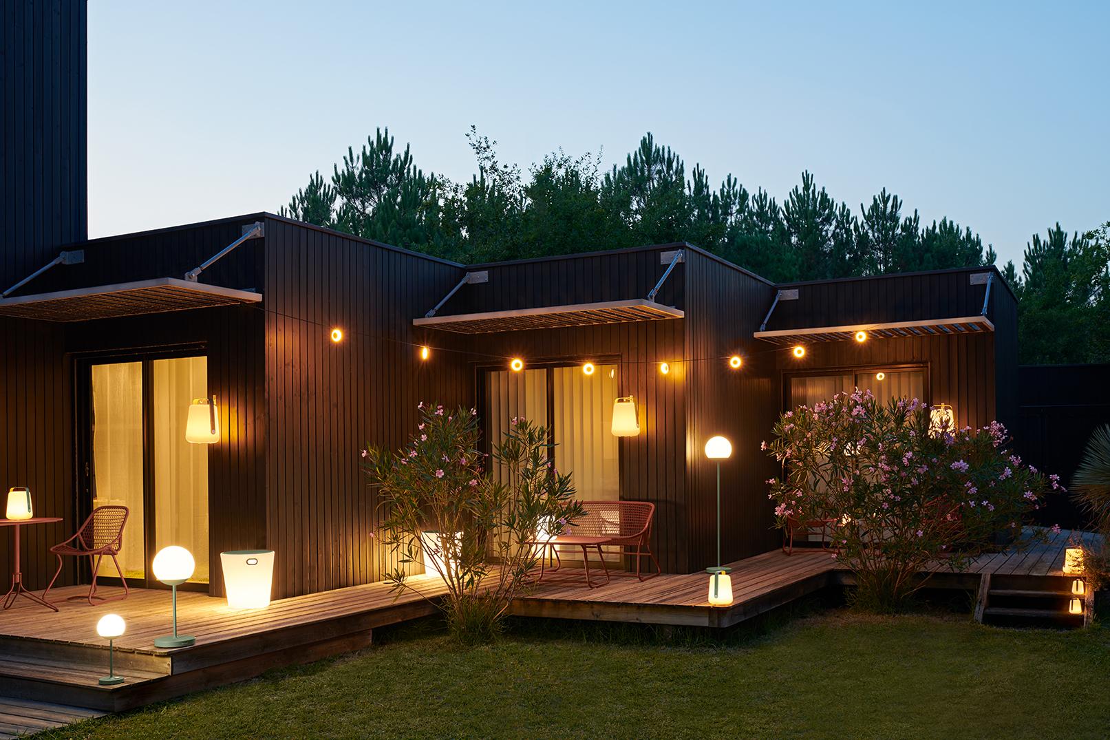 outdoor lamp, lampe exterieur, lampe fermob, moon lamp, lamp balad, balad, pouf exterieur, pouf lumineux